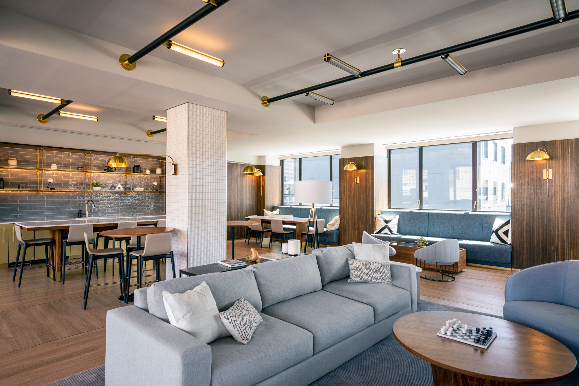 Tenants Can Escape the Hustle and Bustle of Day-to-Day Life in Hollingsworth's Lobby