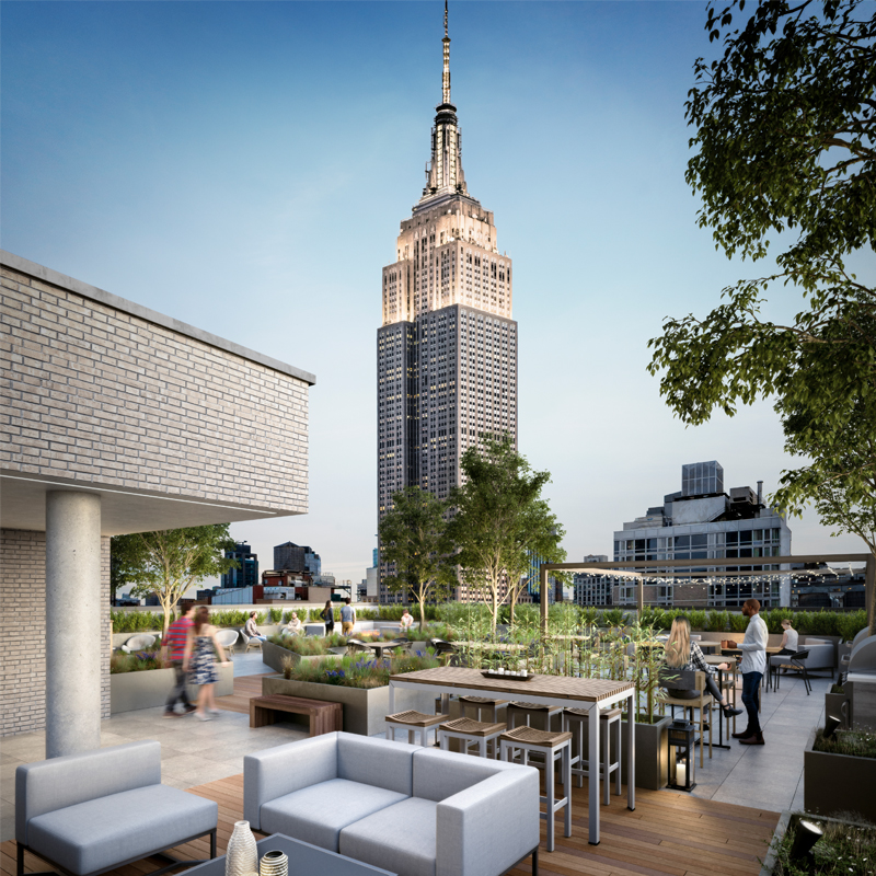 Hollingsworth's Rooftop Patio Boasts Impressive Views of the Empire State Building