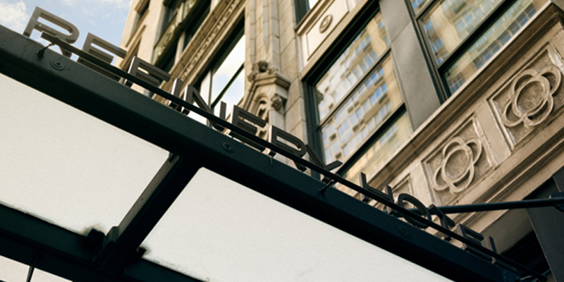 The Outdoor Awning of the Refinery Hotel